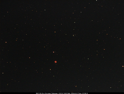NGC.40 10x15s  130SLT on AVX, Ultrastar-C w/Optolong CLS CCD Filter 2016.8.12 23.58.31