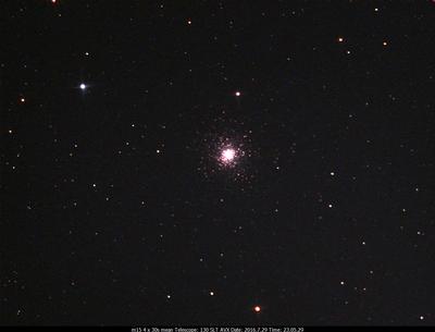 M15 4x30s Celestron 130 SLT on an AVX mount  Ultrastar-C w/Astronomik CLS CCD filter