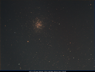 M22 130SLT on AVX w/Optolong CLS CCD filter (5x15s) 2016.8.9 23.58.26
