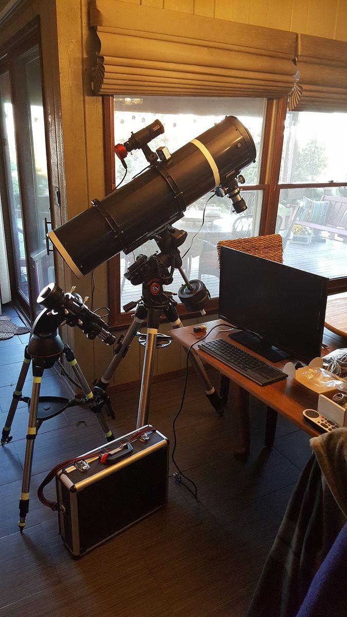 "Orion Skyview Pro 8"" on AVX and Celestron 70mm Travel Scope on SLT mount"