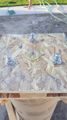Anchor bolt alignment