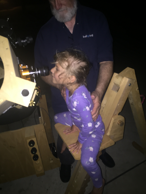 Carrie viewing Saturn 7 17 2017 F