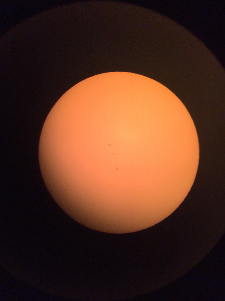 Sunspot activity 8 20 2017 1500 C