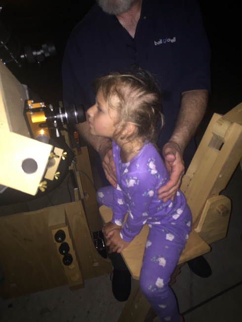 Carrie viewing Saturn 7 17 2017 E