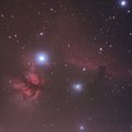 Horsehead Nebula with unmodified Olympus EM5 and a Hoya Red Enhancer Didymium filter