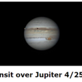 Io transit over Jupiter