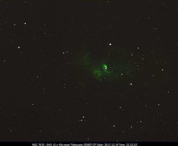 NGC.7635. .SHO 5x45s (S-II, H-alpha, O-iii)