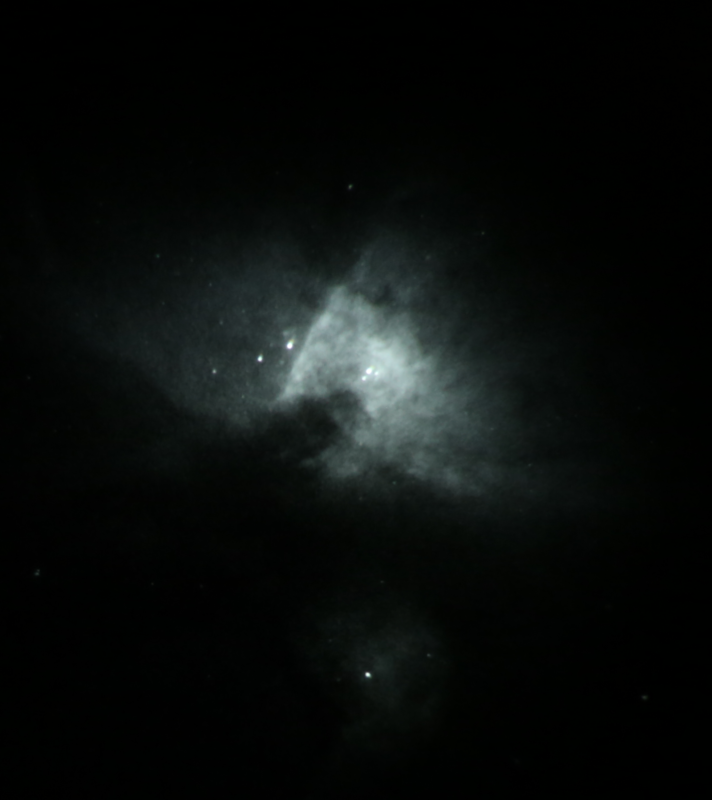 Core of M42, reduced brightness