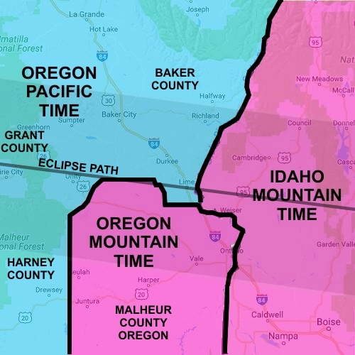 Oregon Time Zone Map | Rtlbreakfastclub