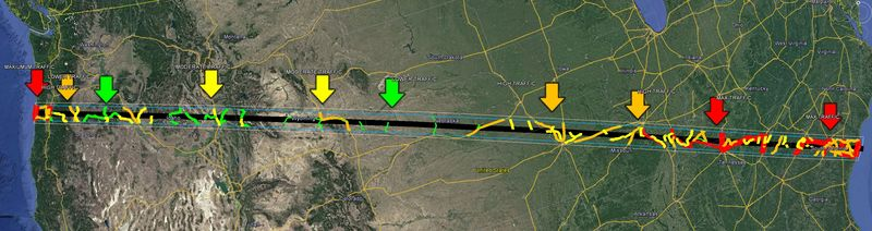Map Of Solar Eclipse 2017 Predicted Highway Traffic Density 2017