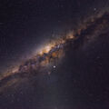 Milky Way Core at Zenith @ 8mm, Bortle 1 Sky