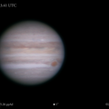 Jupiter w/ GRS, Oval BA & Novel NTrZ Storm 2020-08-25, Animated
