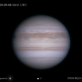 Jupiter w/First NTrZ Storm, Europa & Shadow