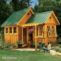 Shed with warm room popout