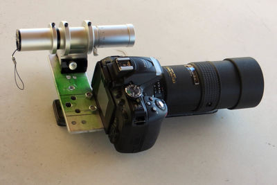 camera, mounting plate, guide scope, and guide camera