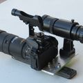 mounting camera, guider, RDF for astrophotography