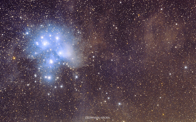 The Pleiades & Neighborhood Dust