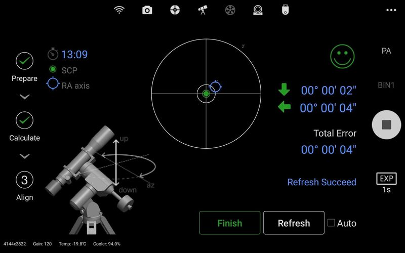 ASIAIR Pro (V1.4) Polar Alignment Feature