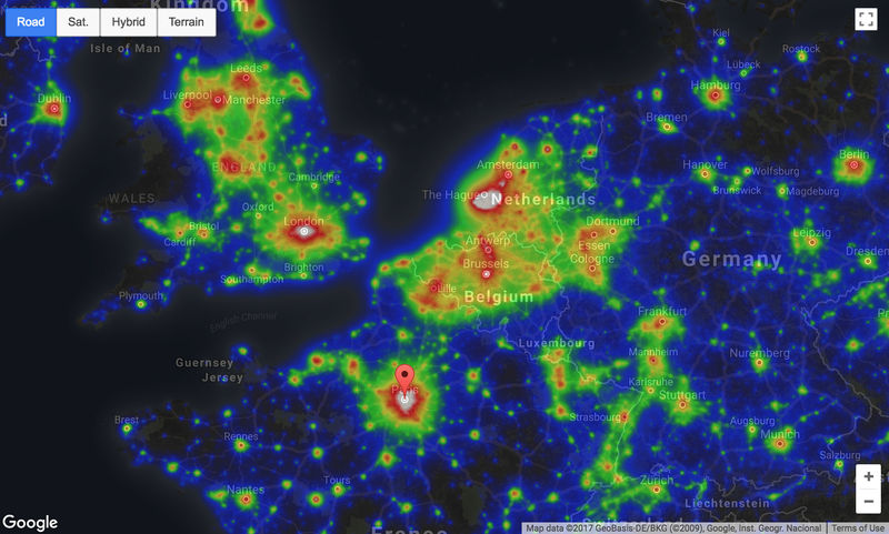 Light Pollution Map - GoodToStargaze com screenshots - Photo