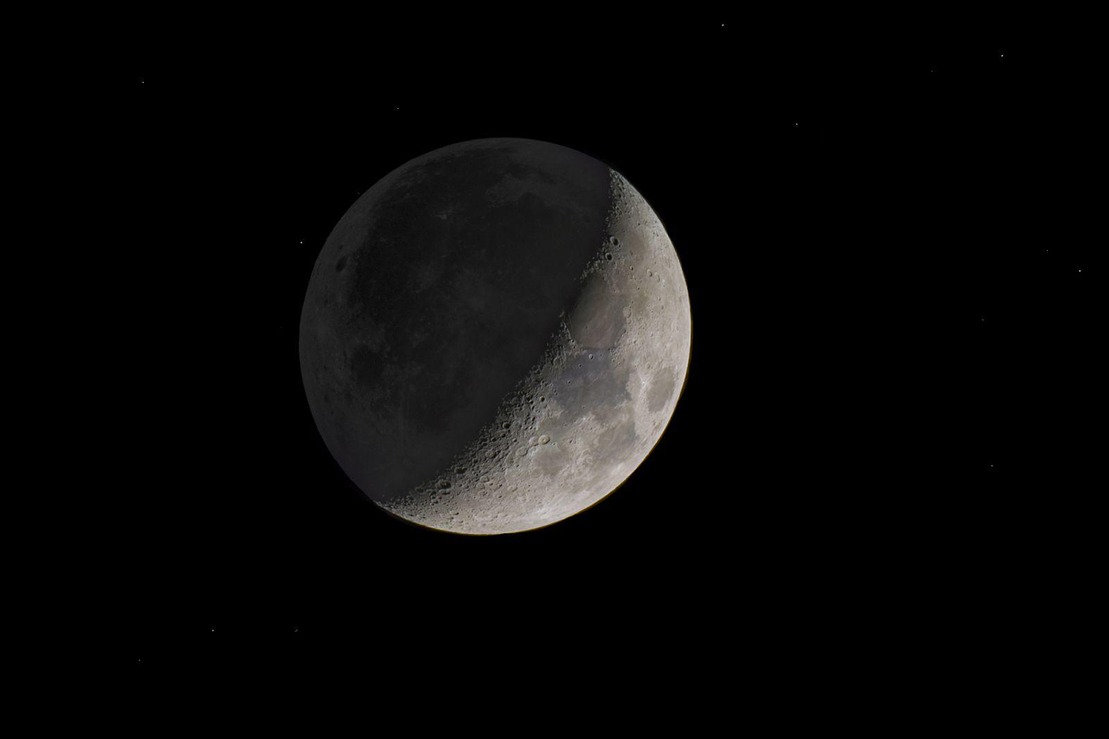 Earthshine Moon