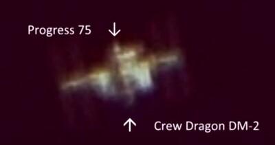 ISS w/SpaceX Crew Dragon DM-2