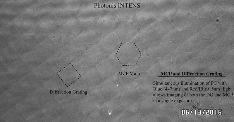 Photonis INTENS 4G MCP And Diffraction Grating