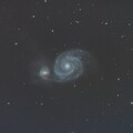 M51 drizzled No chrominance noise reduction