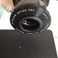 Focal reducer flange after painting with BLACK 2.0