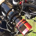 Optical train without the filter wheel or focal reducer