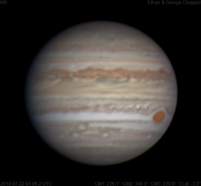 Jupiter | 2018-07-22 4:06 UTC | RGB