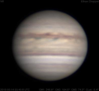 Jupiter, Saturn, Mars | 2018-08-14 | New month & update on scope