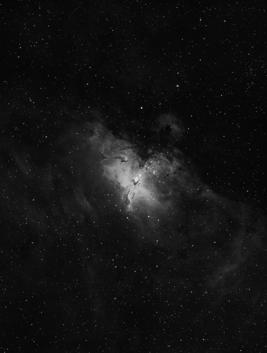 M16 in H-alpha, Processed in PixInsight