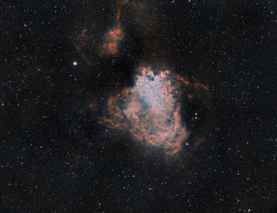 M17 Omega Nebula in HOO