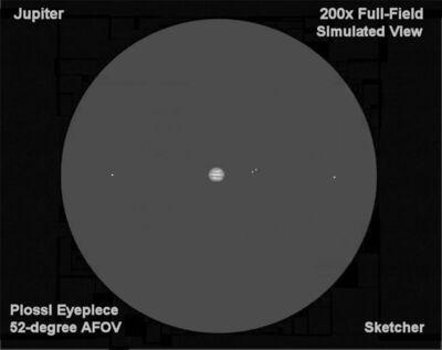 Jupiter 200x  full field view   Sketcher