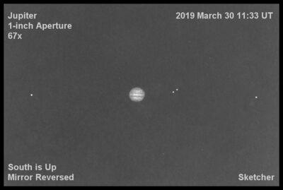 Jupiter 1 inch 67x March 30 2019 2