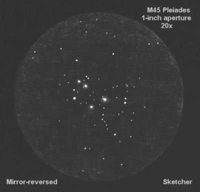 M45 1 inch aperture 07 Dec 2018 20x Sketcher   text 1
