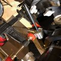 Clamping guide while adjusting 2 piece worm assembly