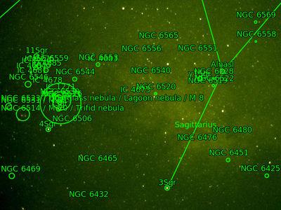 Plate Solving of sagittarius experiment
