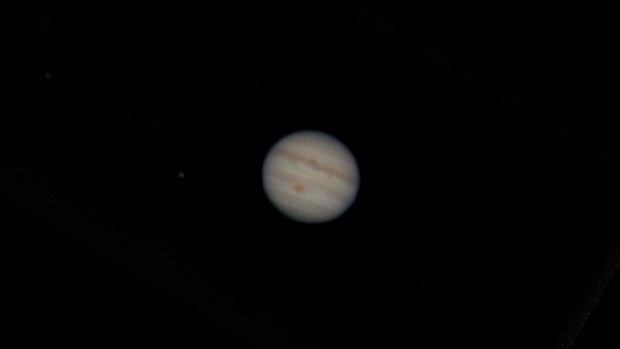 Jupiter after sharpening stacked image in Registax