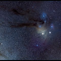 Anteres and Rho Ophiuchi