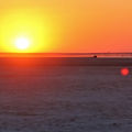 Chasing the sunset on The Makgadikgadi Pans