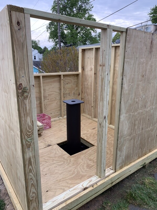 Four walls done for ROR observatory