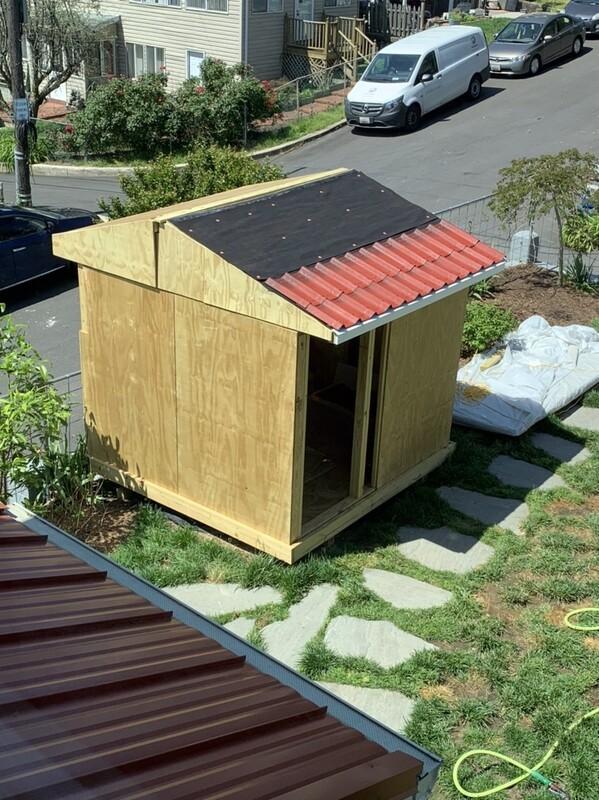 Split roof observatory (in construction)