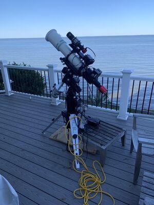 My portable imaging setup on deck