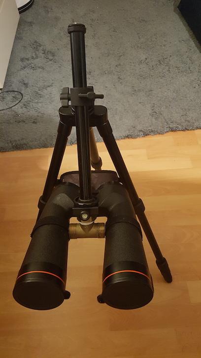 Bino pipe mount