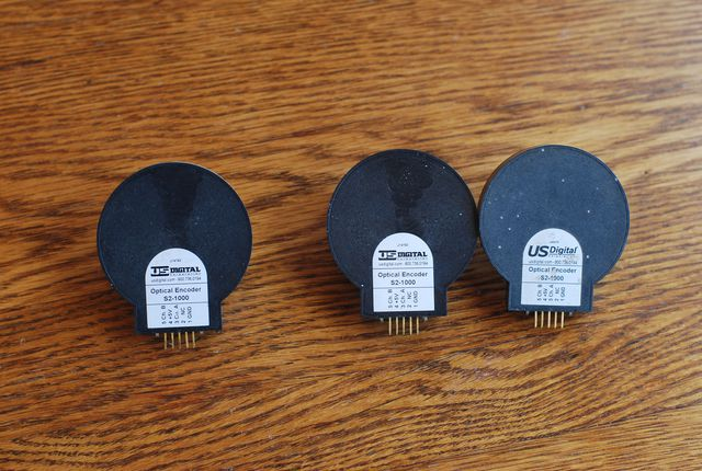 (3) US Digital S2 1000 Encoders