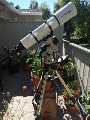 AT130EDT about to begin a solar observing session