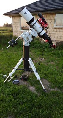 TS Optics 130 f/7 FPL53 triplet + CEM60