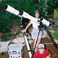 Suzanne, Andy the Wonder Boy, and our scopes!