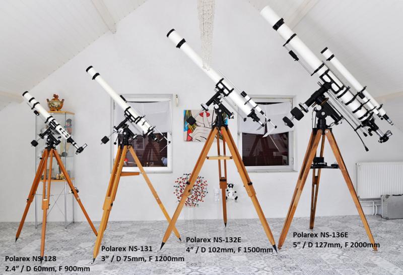 Equatorial Polarex telescope set.